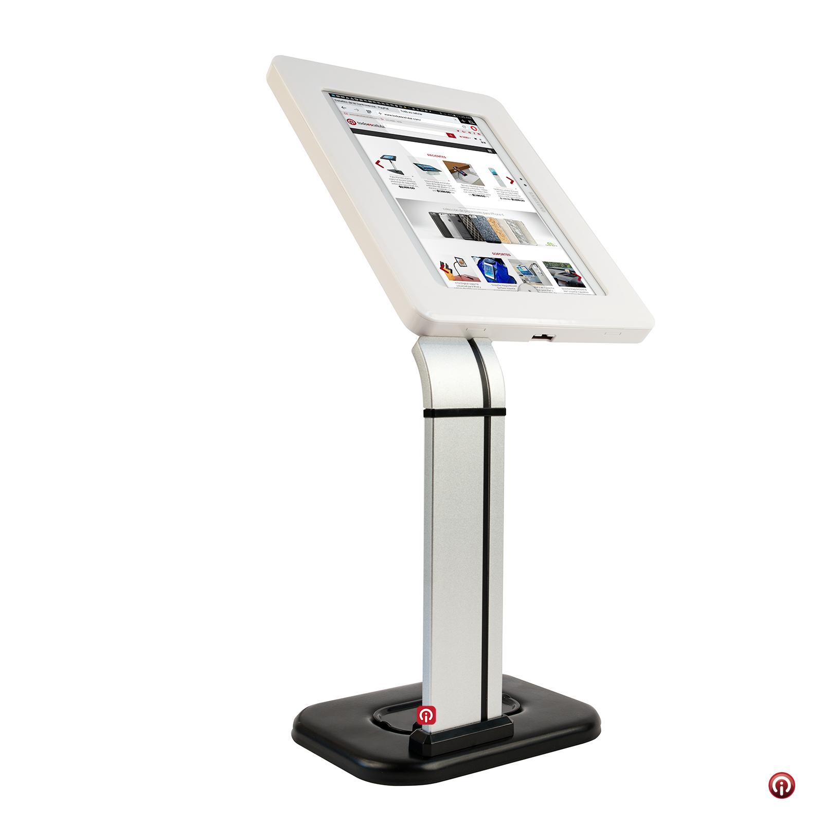 Tsclk14 soporte base kiosko pedestal universal seguridad for Soporte tablet pared