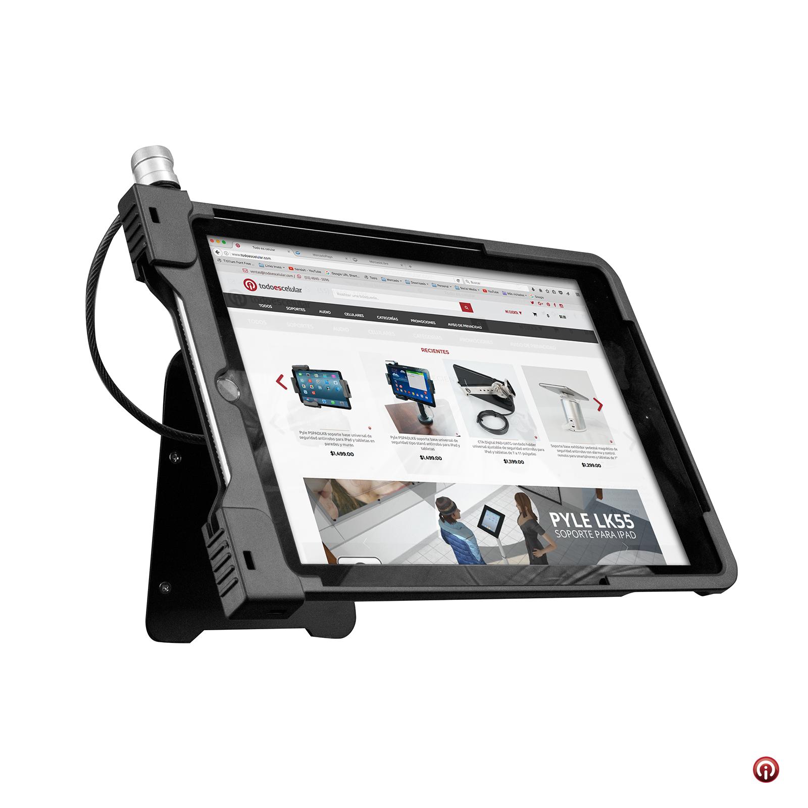 PADASCS-10-CTA-digital-soporte-pared-ipad-air-pro-seguridad-antirrobo-chapa-candado